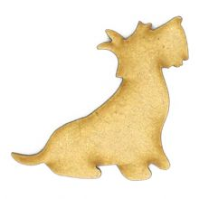 Scottish Terrier - 3mm MDF Laser Cut Scrapbook Topper Pyrography Christmas